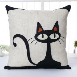 Față de pernă cu pisică